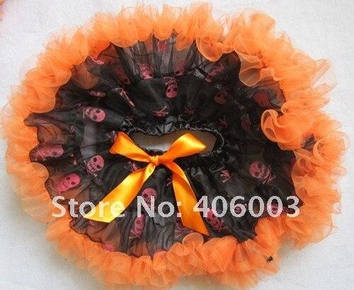 Бесплатная доставка halloween party девочка рюшами юбки принцесса pettiskirt
