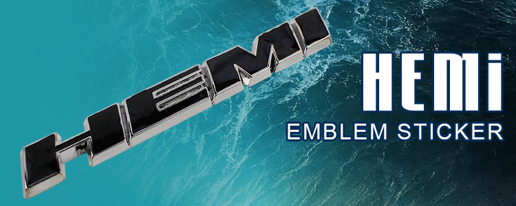 10Pcs Car styling water proof Side Metal Metallic Stainless Steel Fender Tailgate BLACK HEMI Logo Emblem Badge Decal Sticker