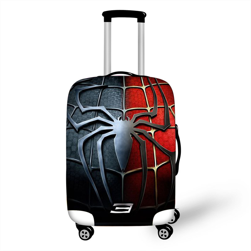 18-32 Inch Super Hero Spiderman Batman Elastic Luggage Protective Cover Suitcase Protect Dust Bag Case Travel Accessories