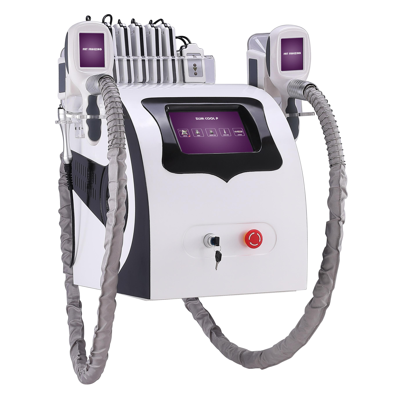 Salón de belleza portátil 5 en 1 Cuerpo Adelgazante criolipólisis máquina cavitación RF cuerpo y equipo de elevación facial