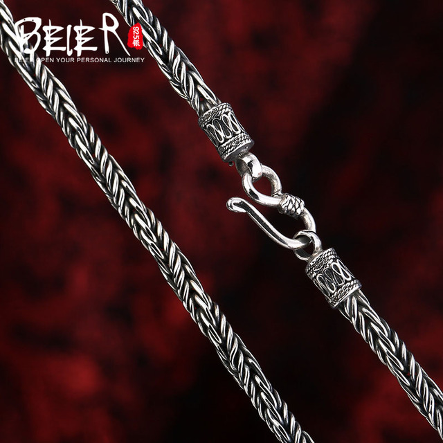 Beier new store 100% 925 silver sterling necklaces pendants trendy fine jewelry chains necklace for women/men  BR925XL062