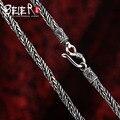 Beier nueva tienda 100% 925 plata esterlina collares colgantes de moda collar de cadenas de joyería fina para las mujeres/hombres br925xl062