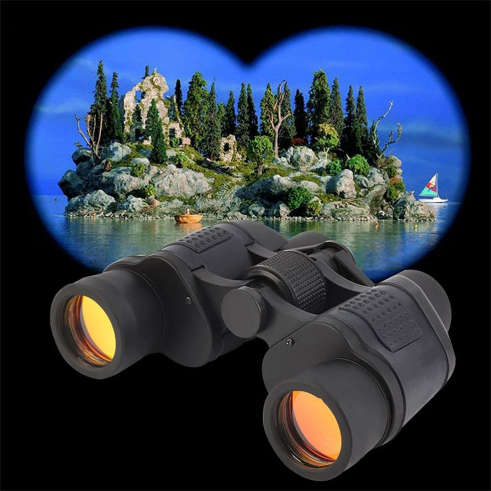 Top Binocular Telescope High Clarity 60X60 3000M Observation Night Vision Optical Green Film Binoculars With Rangefinder Reticle
