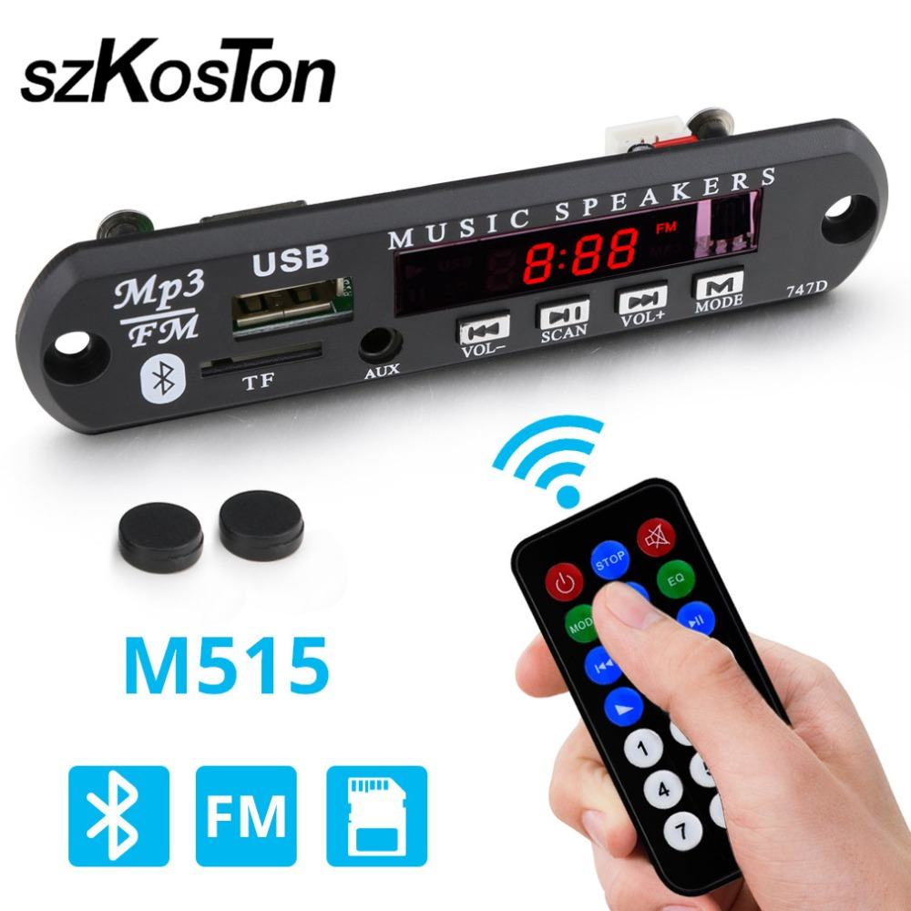 Wireless Bluetooth 12V MP3 WMA Decoder Board Audio Module USB TF Radio for Car Bluetooth Audio Decoder Board Module Mp3 auricular para solo un oido png