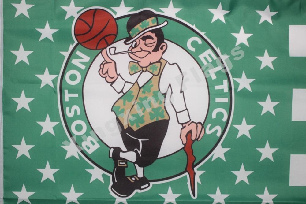 Boston Celtics Nation Flag 3ft X 5ft Polyester NBA1 Boston Celtics Banner Flying Size No.4 144* 96cm Custom Flag
