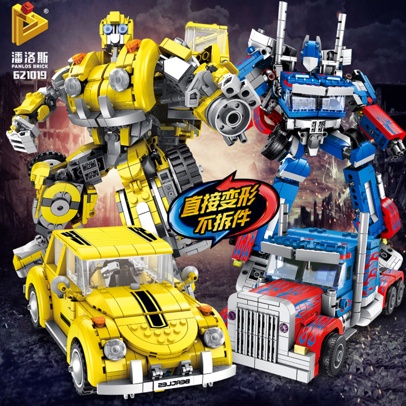 6 in 1 Compatible Deformation hornet creator mecha robot sets city beetle car MOC truck building