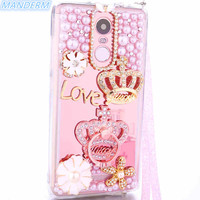 Xiaomi Redmi Note 3 Pro Case Luxury Mirror Rhinestone Holder Stand Cover For Xiaomi Redmi Note