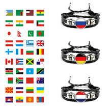 Panama Paraguay Austria Egypt United Kingdom Australia Iran Chile Aruba France Japan South Korea England Flag Men Women Bracelet(China)