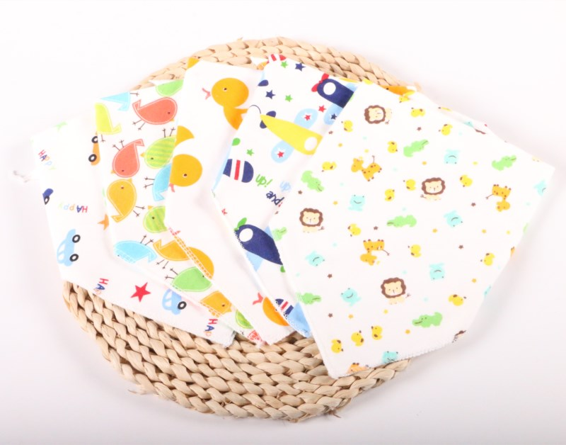 20pieces/lot Cotton  Baby Bibs 2 Layers Babador Bandana Bibs for Babies Scarf Boys Girls Baby Bib Burp Cloths Baby Gift1-3 year