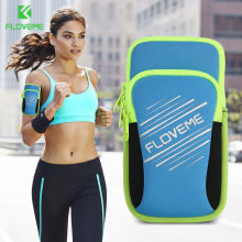 FLOVEME 5.5 inch Universal Armband Pouch Cover For iPhone 7 6 Plus X Lycra Sport Running Arm Band Case For Samsung Xiaomi Bag(China)