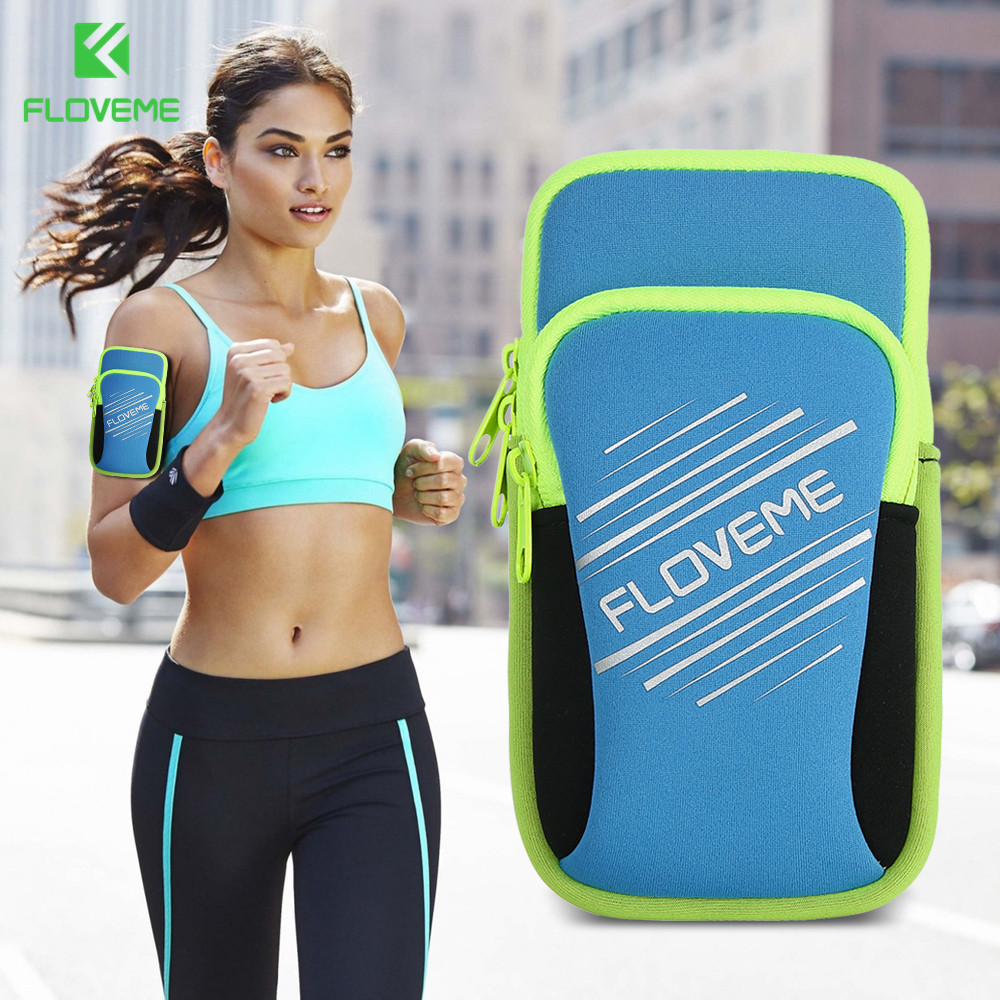 FLOVEME 5.5 inch Universal Armband Pouch Cover For iPhone 7 6 Plus X Lycra Sport Running Arm Band Case For Samsung Xiaomi Bag