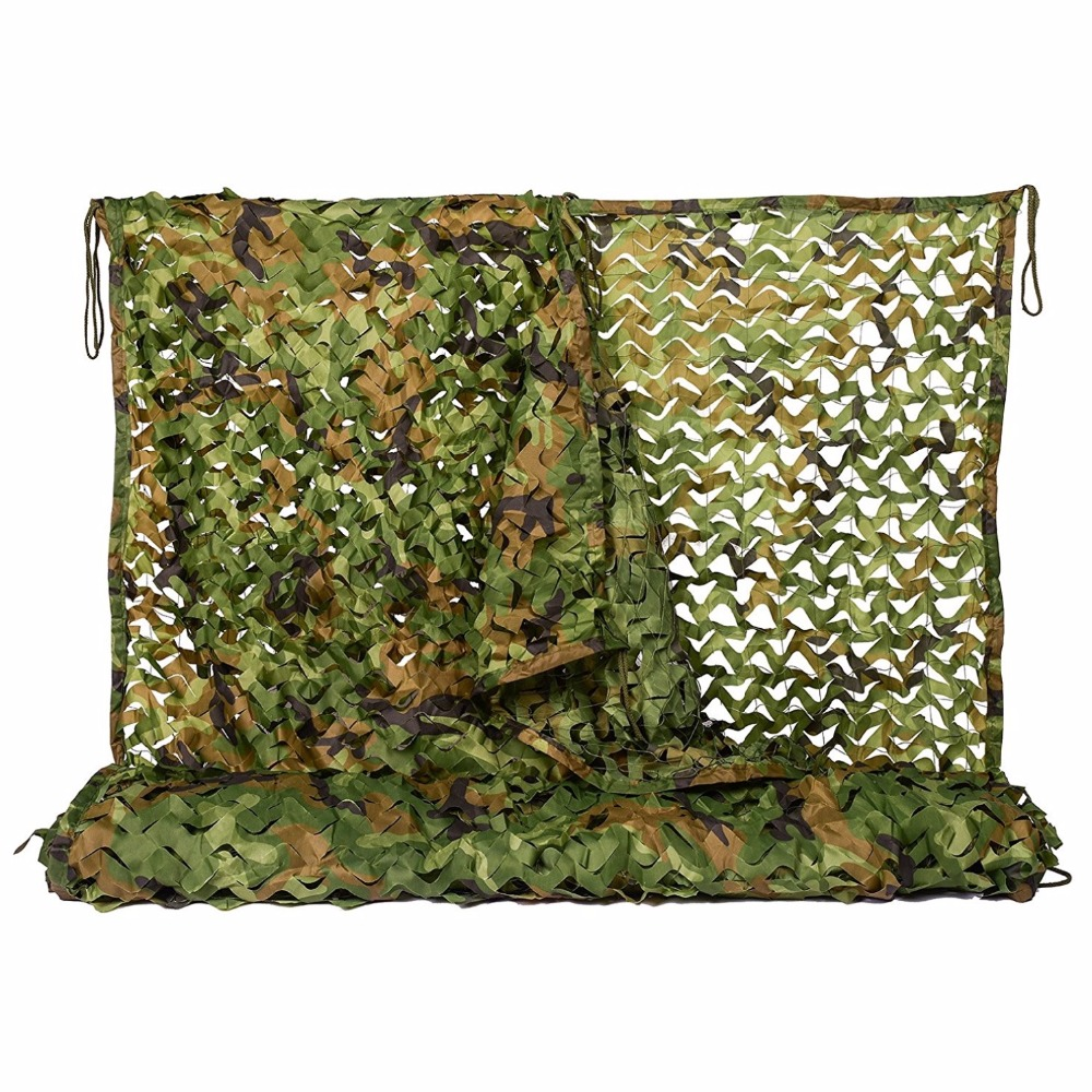 2MX3M Military Camouflage Netting with Mesh Net Army Netting Woodlands Leaves Camo Cover for Outdoor Hunting Camping Car-covers