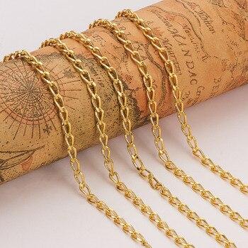 5 м/roll ювелирных изделий гальваническим латунь падение витой панцирного плетения цепи, Come on Reel, золотой, платина, серебро, розовое золото, 7 х 3...