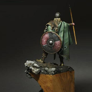 Image 3 - 1/24, Viking Spearman Resin kit Figure GK Historical and humanistic themes Ancient war Uncoated No colour
