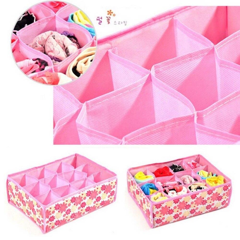 New Non Woven Fabric Folding Underwear Storage Box Bedroom: 31*23*11CM Non Woven Fabric Folding 12 Grid Storage Box