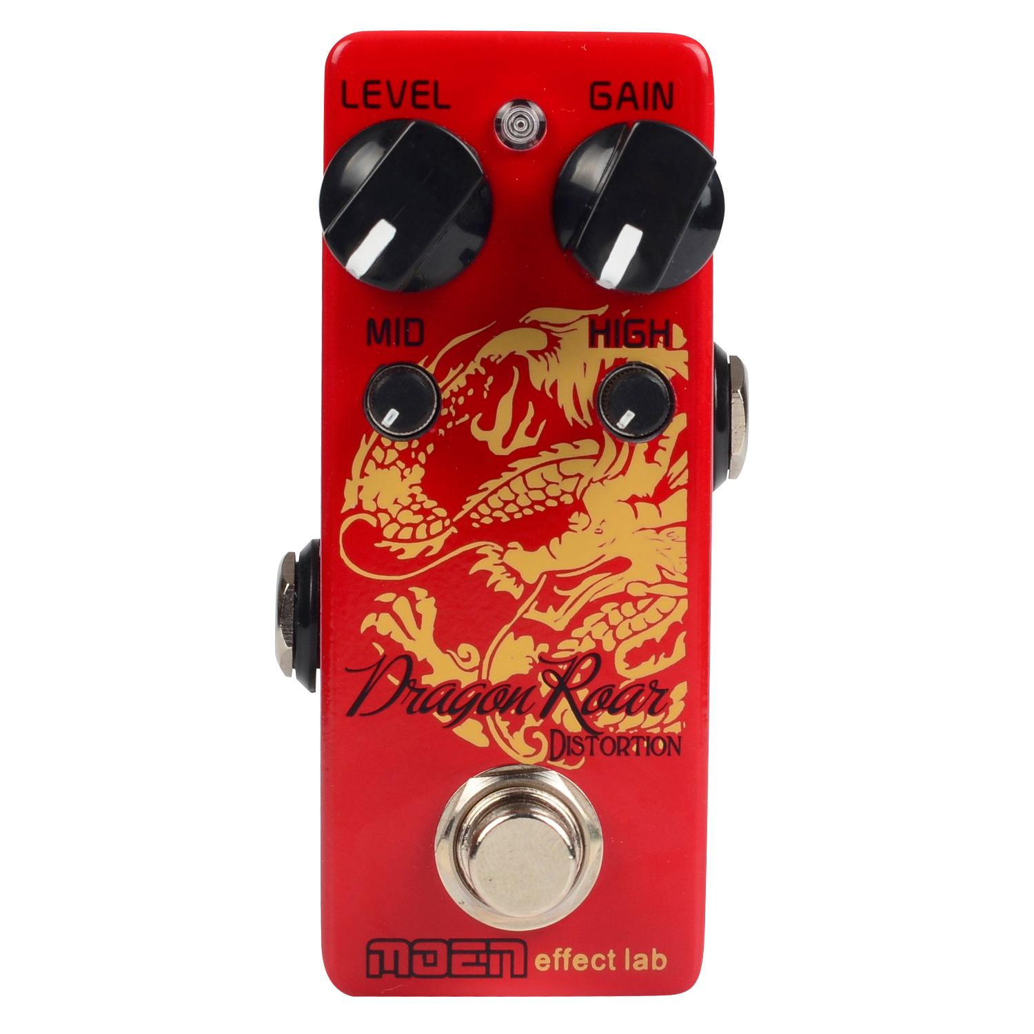 Moen Dragon Roar Distortion Guitar Effect Pedal Level Gain Mid High Controls Ture Bypass Mini Stompbox for Electric Guitar moen compressor guitar effect pedal ture