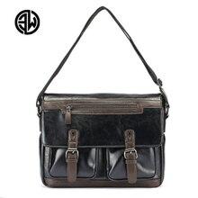 ETONWEAG Men Split Leather Bag Mens Messenger Bags Casual Soft Leather Shoulder Crossbody Bags Pad Holder Male Quality Handbags
