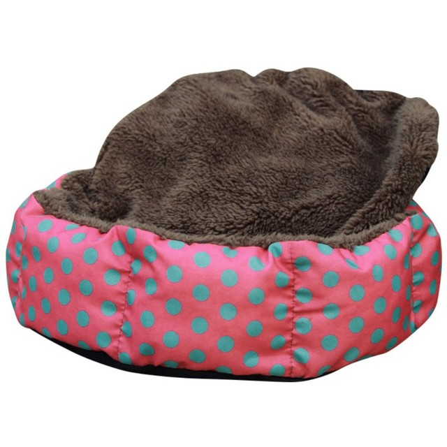 Cute Dogs Beds Leopard Colorful Print Pet Cats Warm Nest Winter Super Soft Octagonal Nest Beds  5