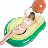 Inflatable Avocado Pool Floating Row Summer Beach Swimming Raft Toy Water Sports Air Cushion For Kids Adults High Quality