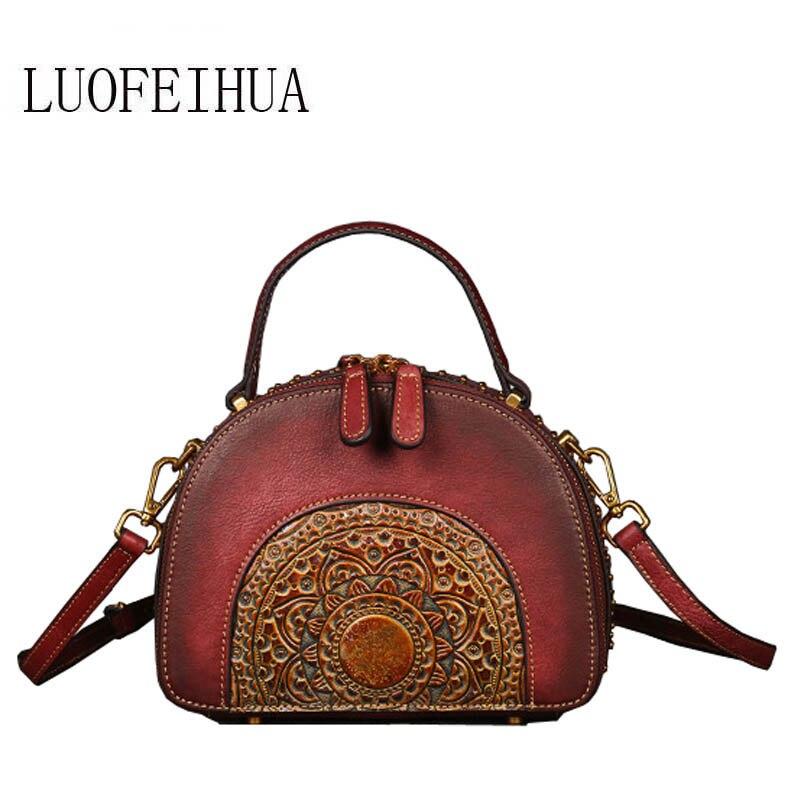 SUWERER  2018 new leather handbag Vintage suede cowhide handbag Embossed pattern crossbody bagSUWERER  2018 new leather handbag Vintage suede cowhide handbag Embossed pattern crossbody bag