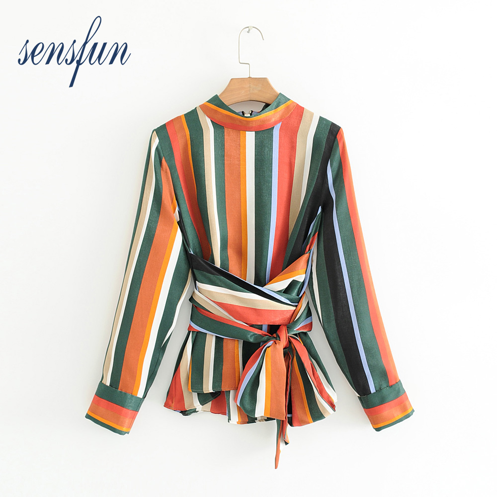 Sensfun 2018 Fashion O-neck Women Blouses Shirts Women Sexy Tops Long Sleeve Ladies Shirt Tops Clothing Blusas With Zipper