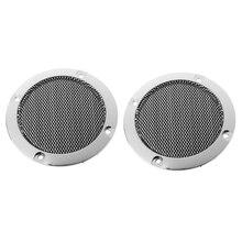 """2 шт. """" дюймов черная крышка аудио динамика декоративная металлическая позолоченная цепь решетка сетки"""