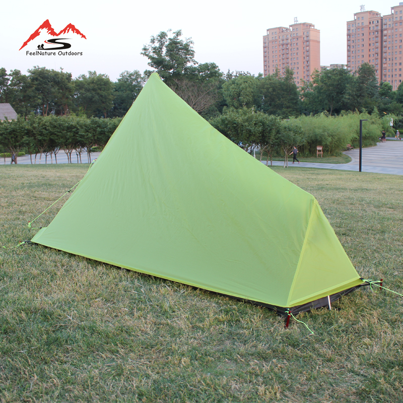 Image 4 - 780g only 15D nlyon double sides silicone oil waterproof single person Light weight camping tent for camping, hiking-in Tents from Sports & Entertainment