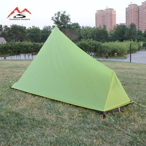 Image 4 - 780g solo 15D nlyon doppi lati olio di silicone impermeabile singola persona peso Leggero tenda da campeggio per il campeggio, trekking