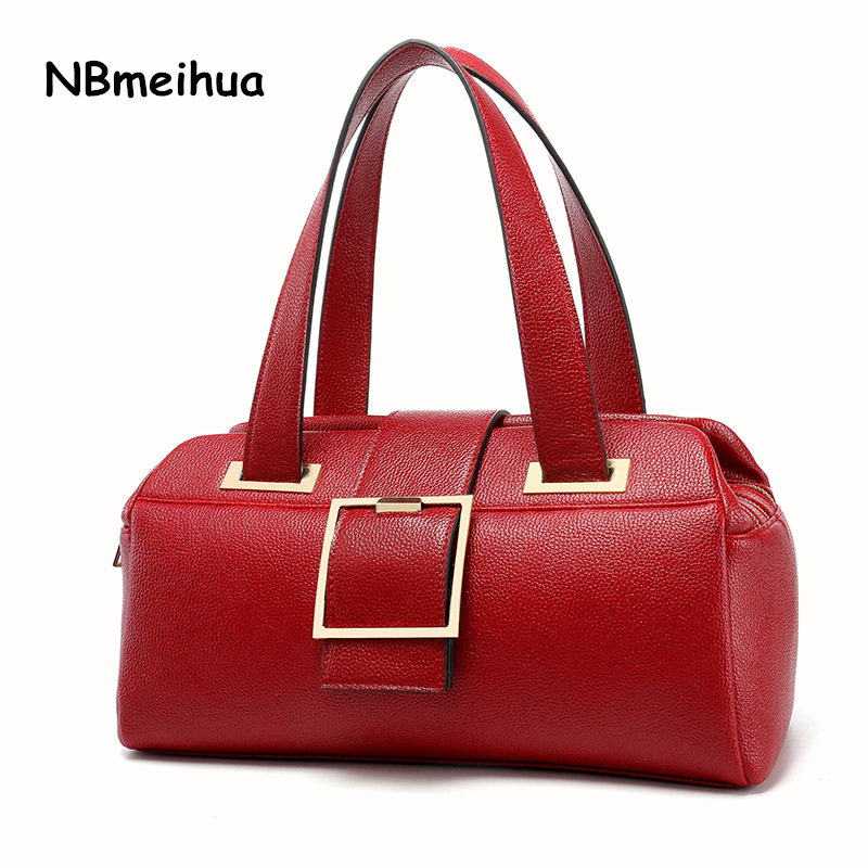 New Style Boston Bag Women High Quality Leather pu Bag Female Evening Bag Luxury Handbags Women Bags Designer Sac A Main elegant top handle handbags female new designer pu leather evening bag 2017 fashion high grade exquisite embroidered women totes