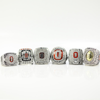2002 2008 2009 2014 2014 2015 Ohio State Buckeyes Big Ten Football Replica Championship Ring Size