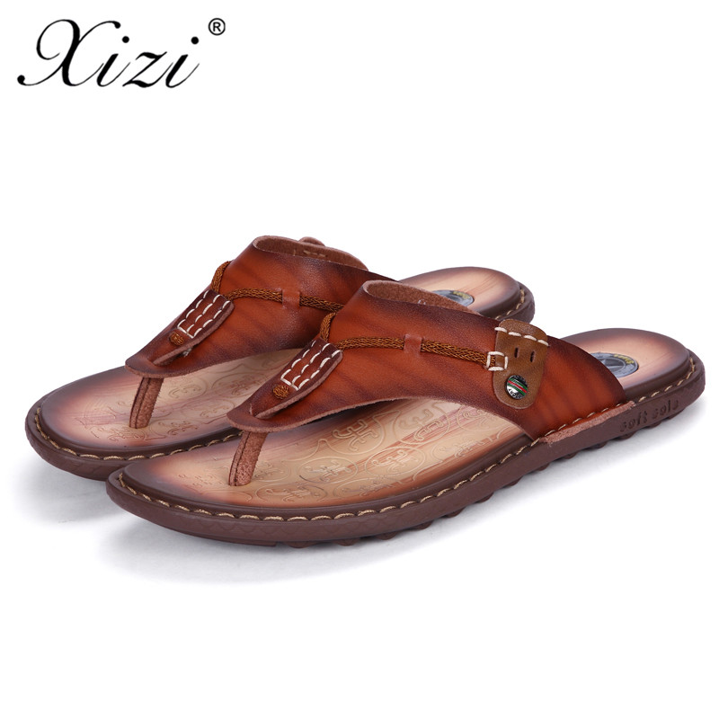 4cff1166ce8e XIZI New Summer Men Designer Flip Flops shoe Men s Casual Microfiber  Leather Sandals Fashion Slippers Breathable Beach Shoes