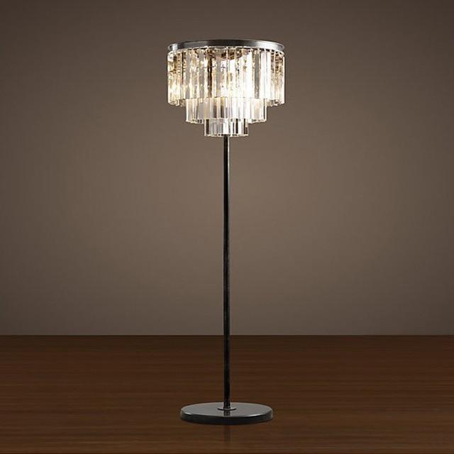Modern Crystal Floor Lamp Led E27 Home Luminaire Fashional