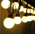 Impermeable al aire libre de Gran Tamaño 4 cm Bola Cadena de Luz Led 220 V 5 M 20 led Hadas luz de La Decoración Para la Boda Fiesta de navidad Jardín uso