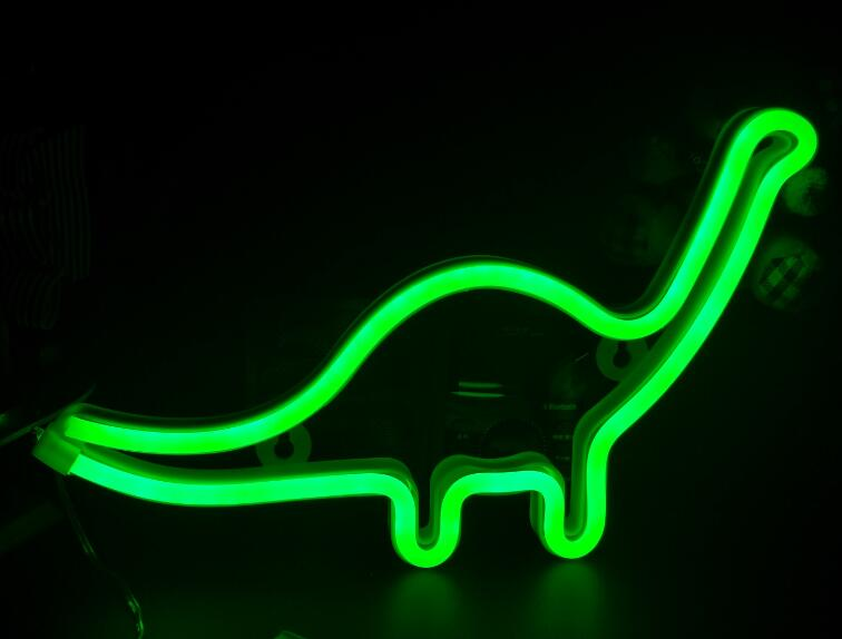 Green LED dinosaur