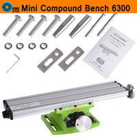 Mini Compound Bench Slide Table Aluminum Worktable Milling Working Cross Table Drilling Machine For Bench Drill