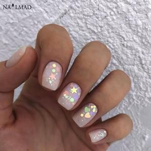 Image 1 - 3ml/box Nail Art Glitter Mix Star Heart Hexagon Acrylic Glitter Mixes Nail Sequins Colorful Glitter Nail Art Decorations