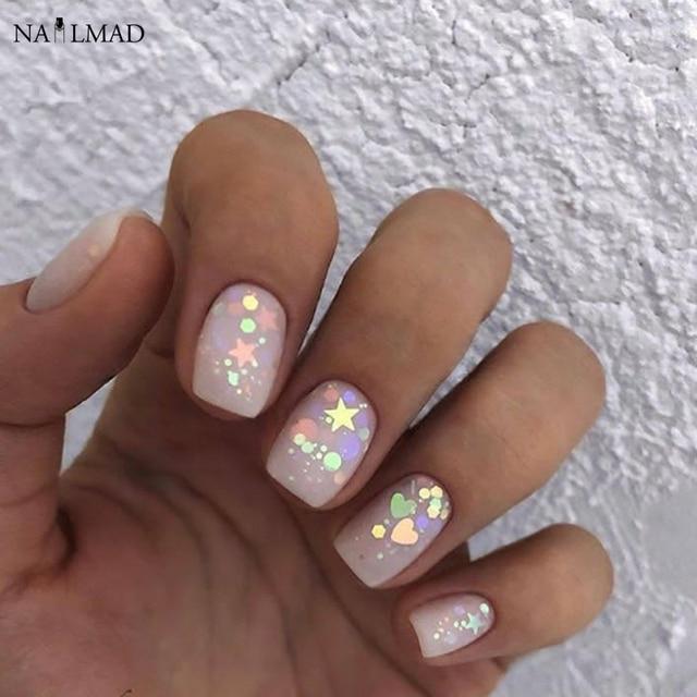 3ml/box Nail Art Glitter Mix Star Heart Hexagon Acrylic Glitter ...