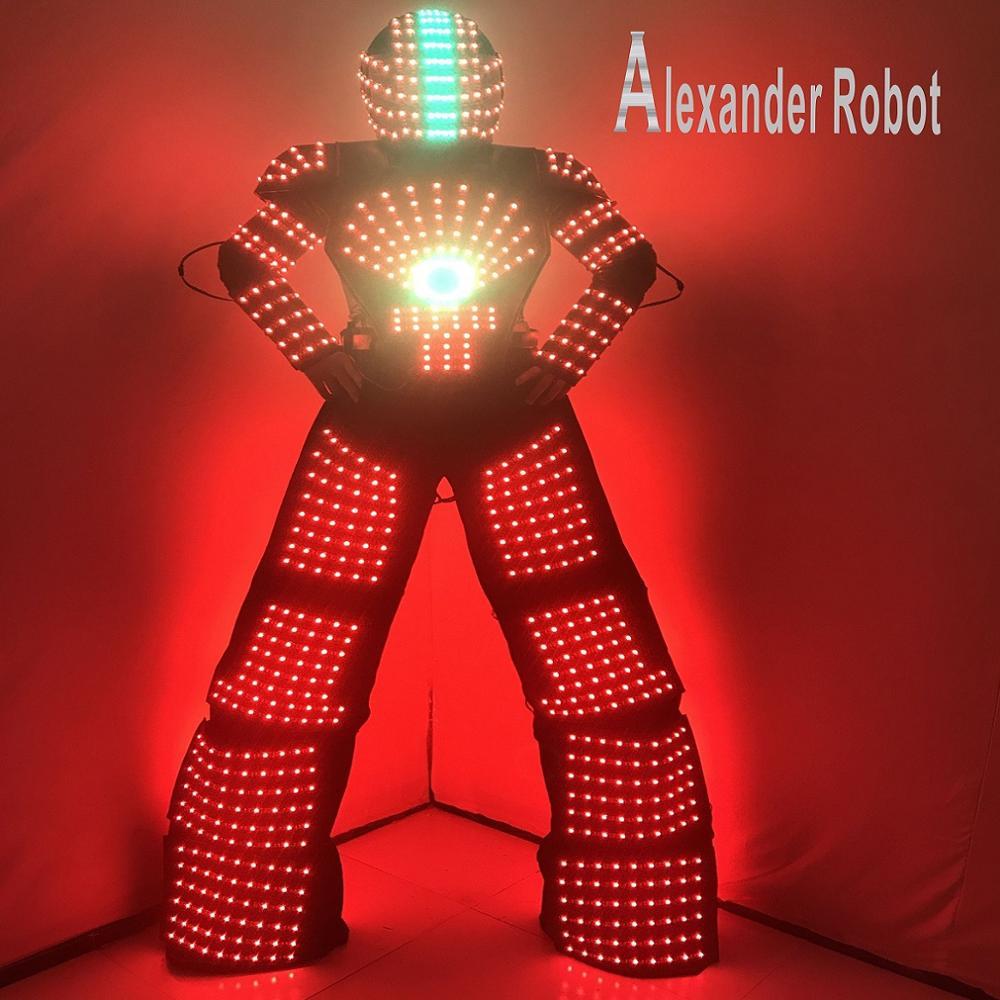 LED terno robô Traje/LED Roupas/ternos de Luz/LED ternos Robô/Alexander