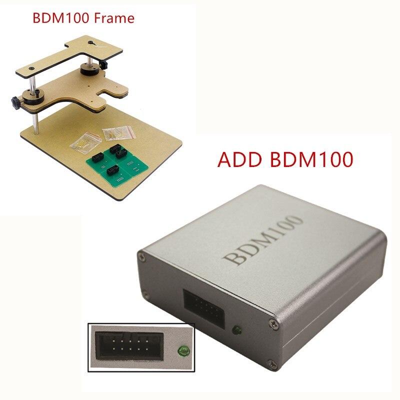 ФОТО A+++ ECU Flasher BDM 100 ECU Programmer BDM100 ECU Chip Tuning Tool ECU Reader V1255 Free Shipping Add BDM Frame wholesale