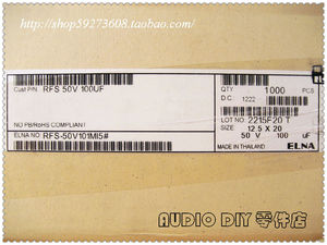Image 4 - 10Pcs/30Pcs ELNA SILMIC IIในนามของ100UF/50V Electrolyticตัวเก็บประจุ (2012 Origlกระเป๋าOriglกล่อง) จัดส่งฟรี