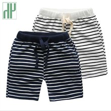цена kids Girls Boys Shorts Stripe Beach Loose Shorts Casual Toddler Boys Short Pants Elastic Waist Children Chothing Size 90~140