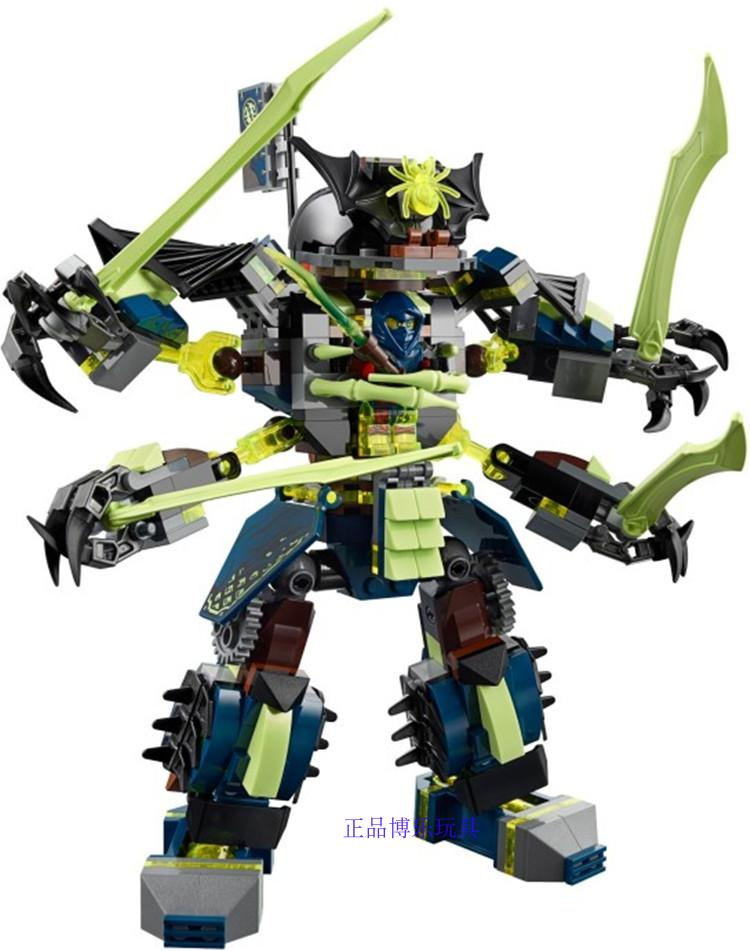 757pcs Ninja Titan Mech Battle Zane's Mech-enstein Nya's Cave Model Building Blocks Kids Toy Bricks Ninjagoes