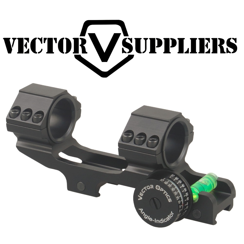 Vector Optics 30mm 1 Skeletonized One Piece Angle Indicator Bubble Level ACD Mount Ring Precision Rifle Angle Cos