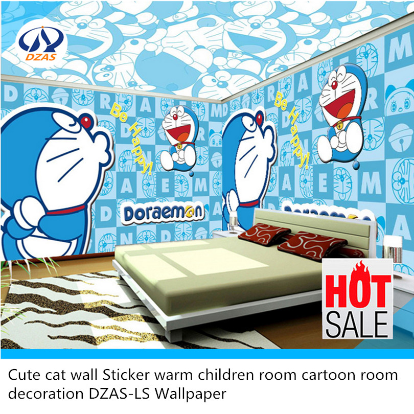 Cute cat wall Sticker warm children room cartoon room decoration DZAS-LS Wallpaper sweet cartoon vehicle and letters pattern diy wall sticker for children s room