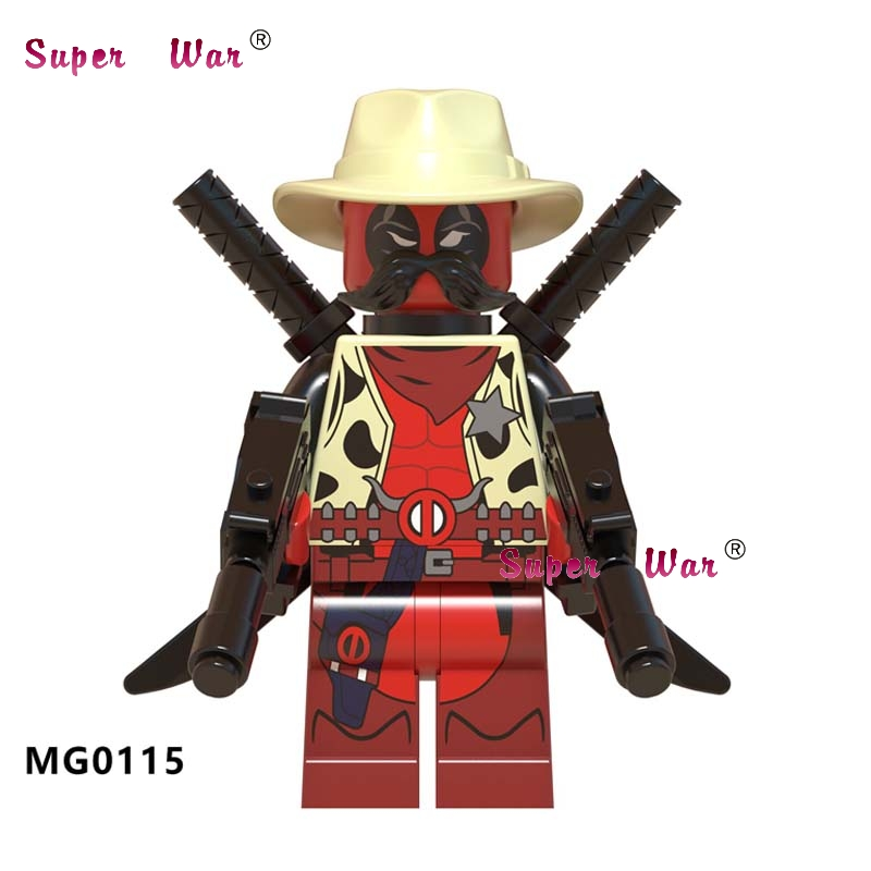 50pcs Building Blocks Deadpool 2 Action Sheriff Deadpool Knightmare Batman Robin Question for kids children toys image