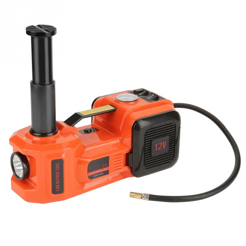 150W 12V 5T Electric Hydraulic Jack Illumination Inflating 3 Function Lift Jack Impact Wrench Air compressor
