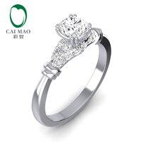 Caimao 14 k белое золото Moissanite обручальное кольцо ювелирные изделия