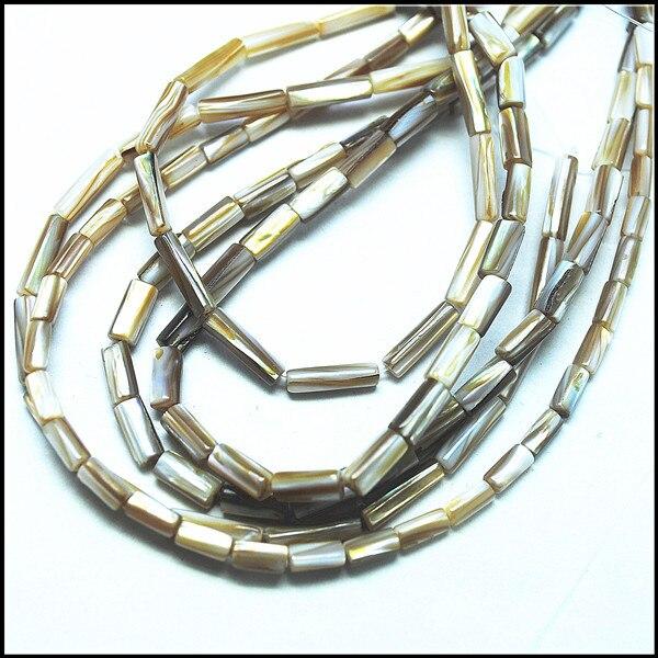 Perles de coquillage deau douce perles de coquillage nature forme de tambour x47mm 5x8mm 4x14mm perles résultats perles cordes
