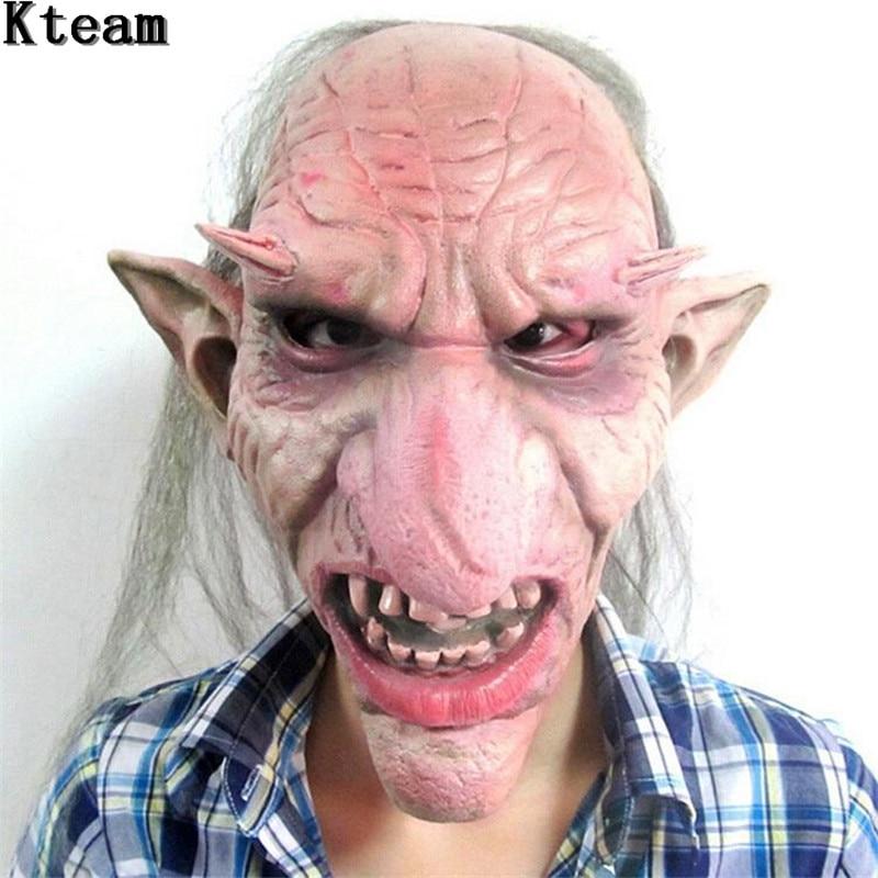 Heißer Verkauf Männer Latex Maske Goblins Big Nose Horror Maske gruselige Kostüm-partei Cosplay Requisiten Scary Maske für Halloween Terror Zombie