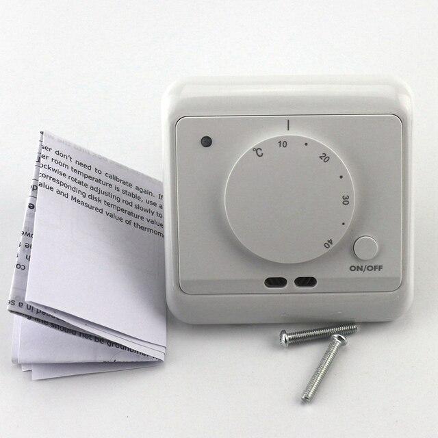 heizung elektronische thermostat 230 v 16a ac zimmer warm temperaturregler 5 40 grad. Black Bedroom Furniture Sets. Home Design Ideas